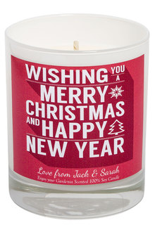 Personalised Candle Merry Xmas