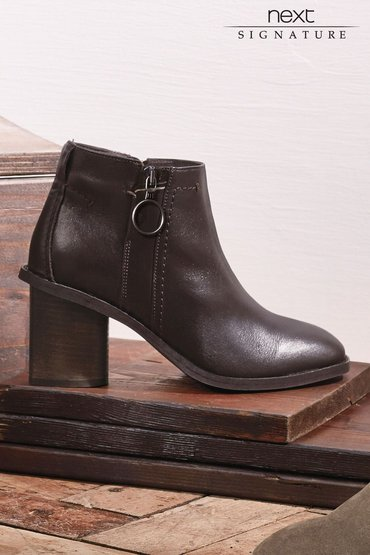 Next Signature Leather Ankle Boots
