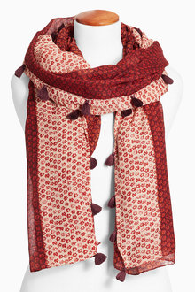 Next Red Ditsy Print Scarf