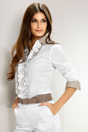 Capture European Blouse with Ruffles