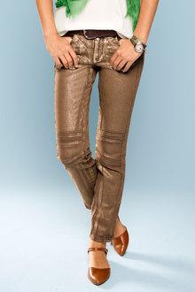 Heine Foil Print Biker Pants