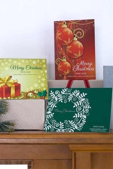 Personalised Christmas Card Set