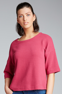 New Look Textured Kimono Sleeve Top