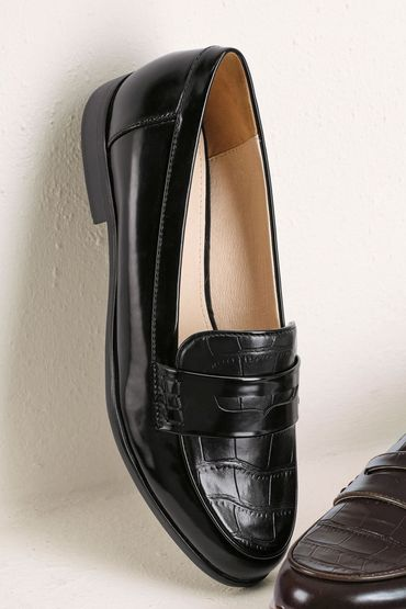 Buy next croc effect high vamp loafers online shop the brand store