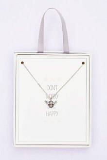 Next Silver Tone Bee Charm Necklace