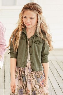Next Khaki Lightweight Linen Blend Jacket (3-16yrs)