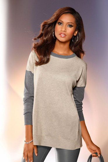 Capture European Draped Back Pullover