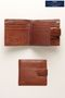Next Signature Italian Tan Leather Extra Capacity Popper Wallet