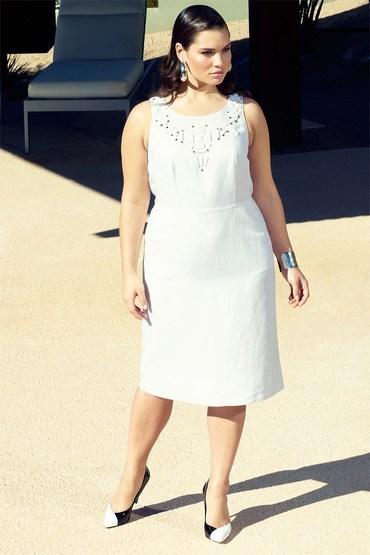 Plus Size - Addition Elle Linen Dress
