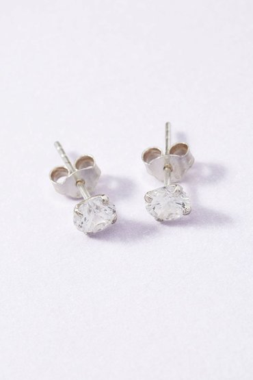 Next Sterling Silver Sterling Silver Cubic Zirconia Stud Earrings