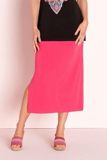 Capture Stretch Midi Skirt
