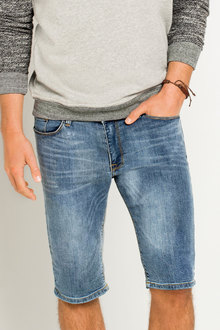 New Look Mens Ice Wash Skinny Short