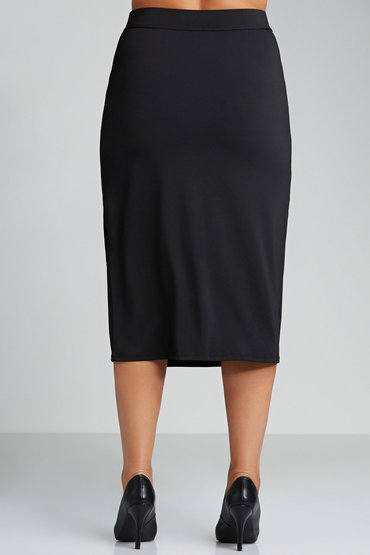 Sara Knit Mock Wrap Skirt