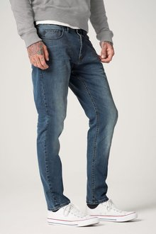 Next Green Wash Chalk Tapered Fit Jeans