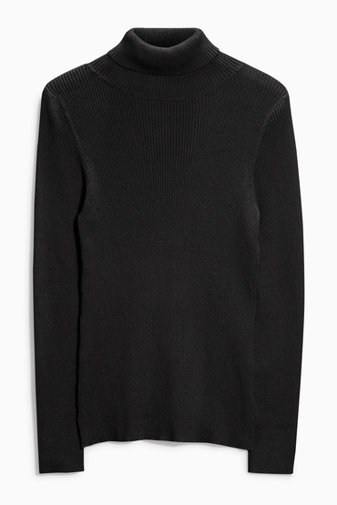 Next Ribbed Roll Neck Sweater