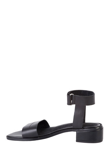 Grace Hill Leather Block Heel