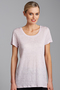 Emerge Scoop Hem Linen Tee