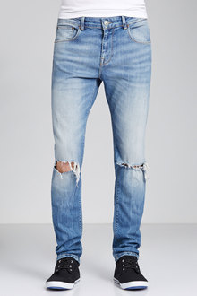 New Look Mens Authentic Ripped Tint Skinny Jean