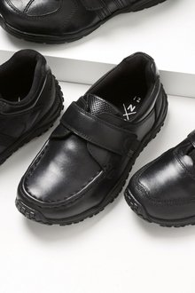 Next Black Narrow Fit Sporty Single Strap Shoes (Older Boys)