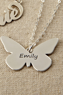 Personalised Butterfly Pendant Necklace