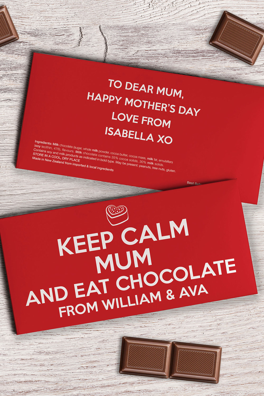 Personalised chocolate tablet keep calm online shop ezibuy personalised chocolate tablet keep calm reheart Choice Image