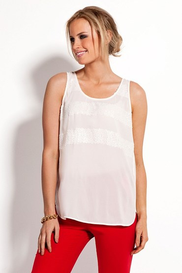 Grace Hill Sequin Stripe Tank