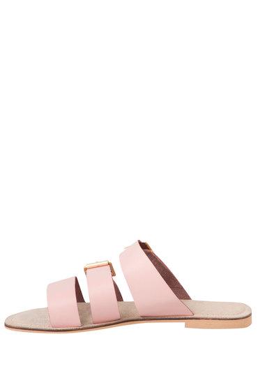 Plus Size - Wide Fit Triple Strap Buckle Flat Sandal