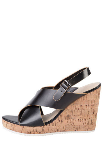 Plus Size - Wide Fit Crossover Wedge