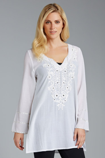 Grace Hill Embroidered Kaftan