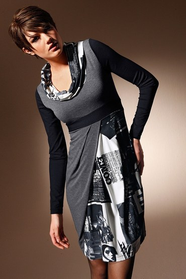 Heine Cowl Neck Print Dress