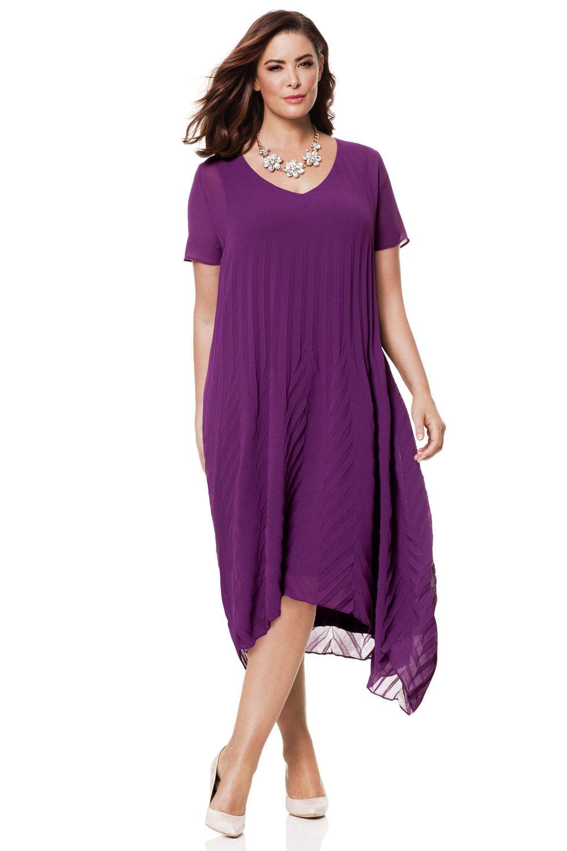 Plus Size - Sara Pleat Dress 4f264a392