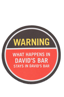 Personalised Coasters - Warning
