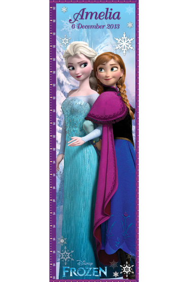 Personalised Disney Frozen Growth Chart