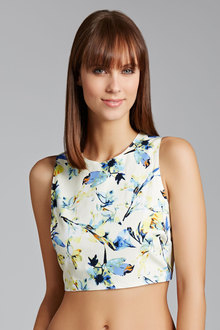 New Look ST Floral Print Ottoman Crop