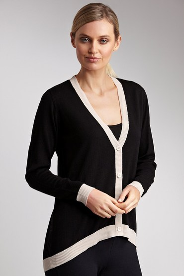 Essentials Merino Drop Hem Cardigan