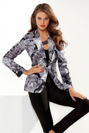 Emerge Printed Silk Touch Blazer