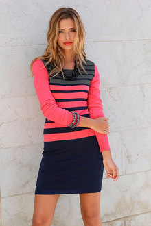 Urban Striped Pullover Dress
