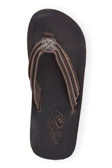 Next Dark Brown Leather Toe Post