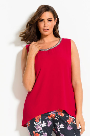Plus Size - Capture Woman Beaded Top