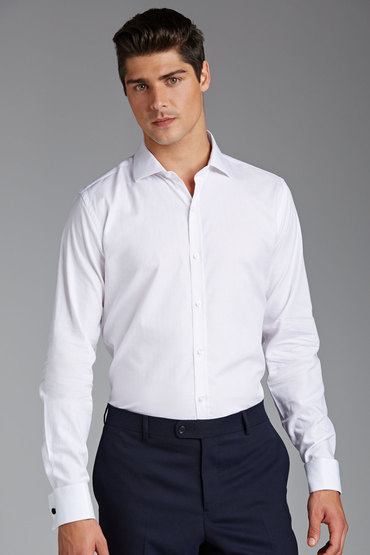 Pierre Cardin White Royal Oxford Shirt