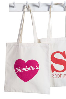 Personalised Tote Love Heart