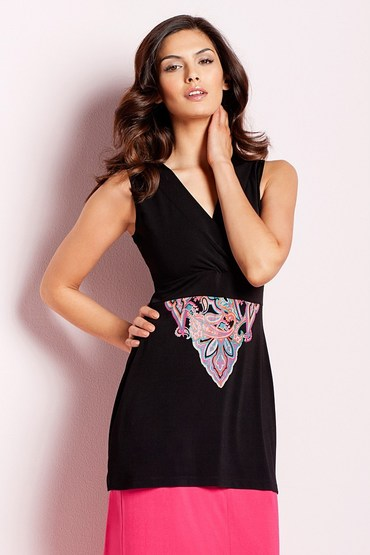 Capture Paisley Tunic Top
