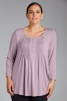 Plus Size - Sara New Pleat Detail Tee