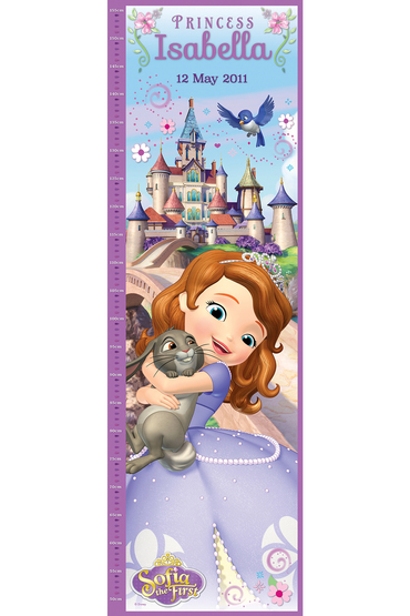 Personalised Disney Sofia the First Growth Chart
