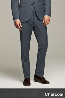Next Tailored Fit Suit Trousers - 153853