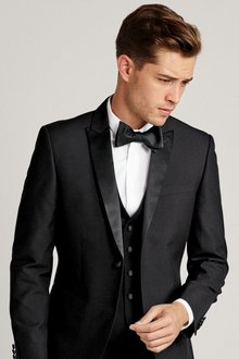 Next Black Tuxedo Waistcoat