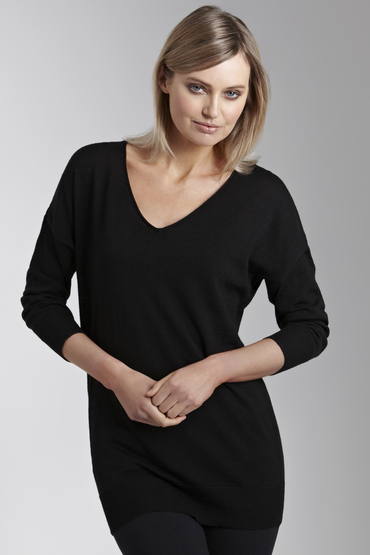 Essentials Merino Slouchy V Neck