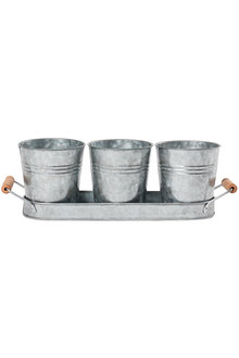 Vermont and Lewis Galvanised Picnic Caddy