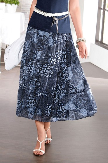 Capture European Print Skirt