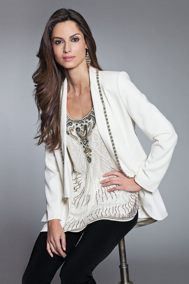 Together Beaded Neckline Jacket